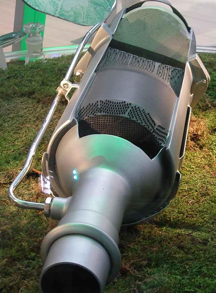 Foto van een opgewerkte roetfilter
